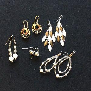 Bundle of 5 Pair Fashion Earrings